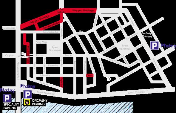 Ograniczenia w ruchu i parkingi